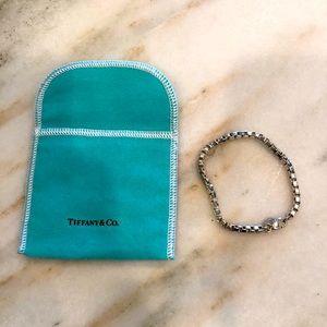 Venetian link bracelet - sterling silver